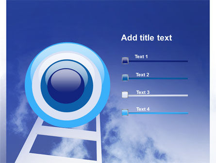 Ladder to Heaven PowerPoint Template Slide 9