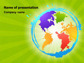 Global: World Continents PowerPoint Template #06889