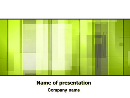 Light Green Abstract PowerPoint Template