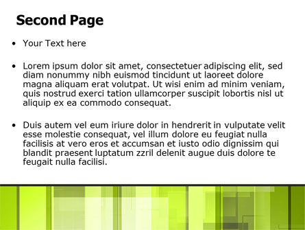 Light Green Abstract PowerPoint Template Slide 2