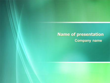 Aqua Green Abstract PowerPoint Template