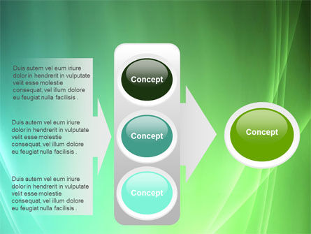 Aqua Green Abstract PowerPoint Template Slide 11