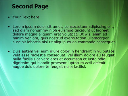Aqua Green Abstract PowerPoint Template, Slide 2, 06891, Abstract/Textures — PoweredTemplate.com