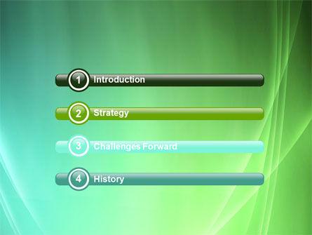 Aqua Green Abstract PowerPoint Template, Slide 3, 06891, Abstract/Textures — PoweredTemplate.com