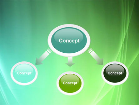 Aqua Green Abstract PowerPoint Template, Slide 4, 06891, Abstract/Textures — PoweredTemplate.com