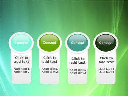 Aqua Green Abstract PowerPoint Template Slide 5