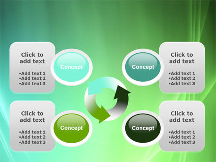 Aqua Green Abstract PowerPoint Template Slide 9