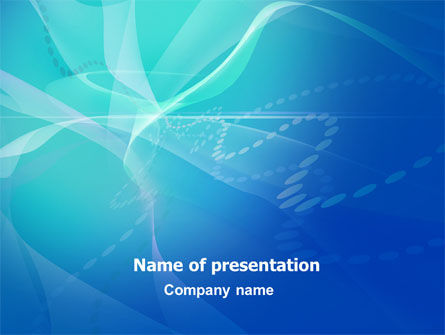 Blue Abstract Veil PowerPoint Template