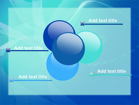 Blue Abstract Veil PowerPoint Template Slide 10