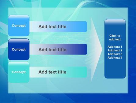 Blue Abstract Veil PowerPoint Template Slide 12