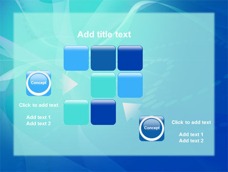 Blue Abstract Veil PowerPoint Template Slide 16