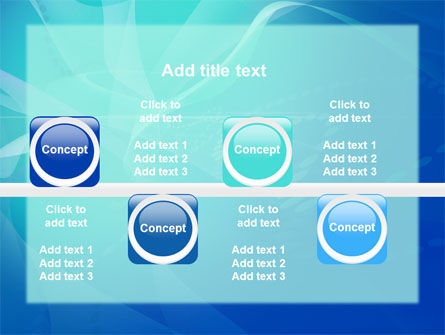 Blue Abstract Veil PowerPoint Template Slide 19
