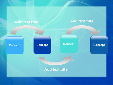 Blue Abstract Veil PowerPoint Template Slide 4