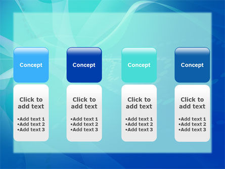 Blue Abstract Veil PowerPoint Template Slide 5