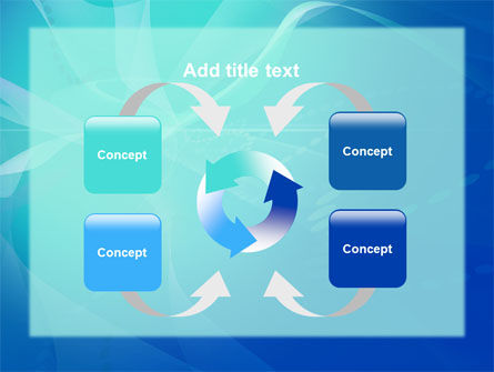 Blue Abstract Veil PowerPoint Template Slide 6