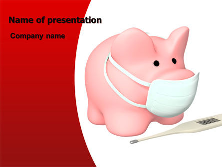Medical: Swine Flu PowerPoint Template #06893
