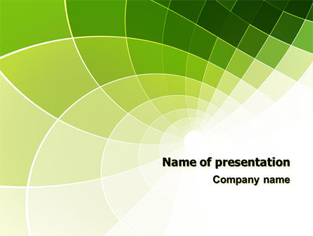 Abstract Green Sections PowerPoint Template
