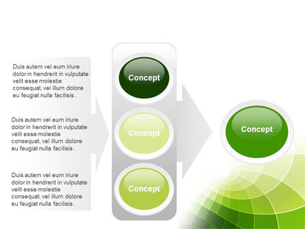 Abstract Green Sections PowerPoint Template Slide 11