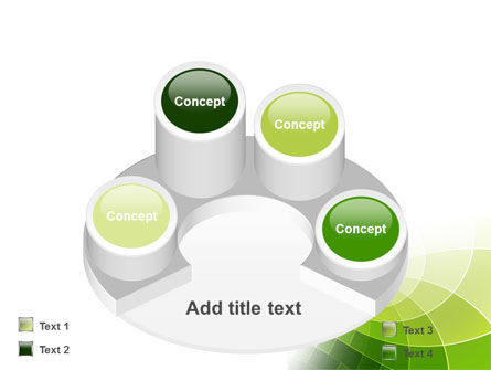 Abstract Green Sections PowerPoint Template Slide 12