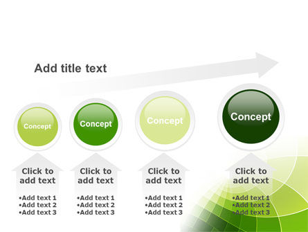 Abstract Green Sections PowerPoint Template Slide 13