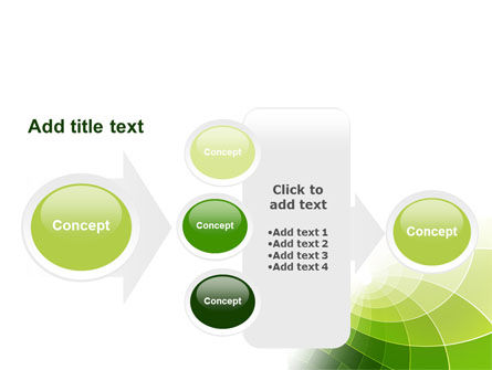 Abstract Green Sections PowerPoint Template Slide 17