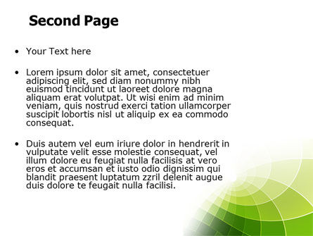 Abstract Green Sections PowerPoint Template Slide 2