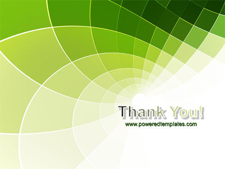 Abstract Green Sections PowerPoint Template Slide 20