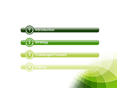 Abstract Green Sections PowerPoint Template Slide 3