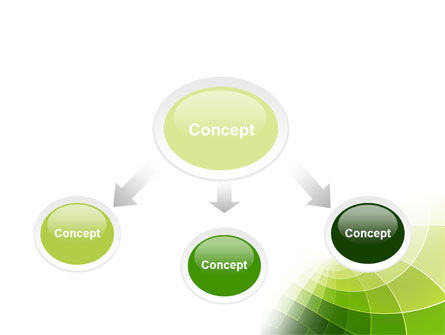 Abstract Green Sections PowerPoint Template Slide 4
