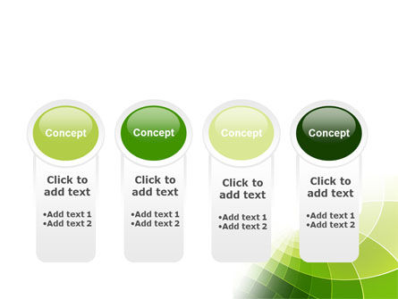 Abstract Green Sections PowerPoint Template Slide 5