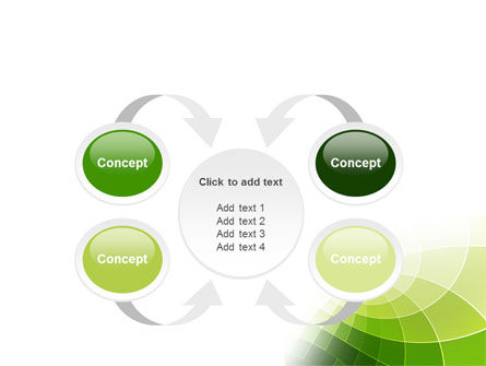 Abstract Green Sections PowerPoint Template Slide 6