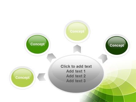 Abstract Green Sections PowerPoint Template Slide 7
