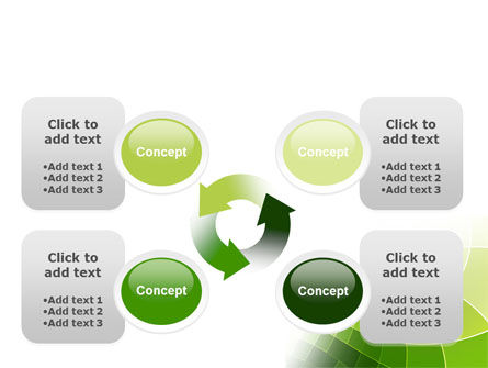 Abstract Green Sections PowerPoint Template Slide 9