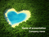 Careers/Industry: Heart Lake PowerPoint Template #06896