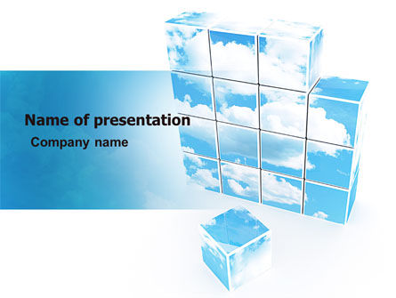 Restoring Sky PowerPoint Template, 06898, Nature & Environment — PoweredTemplate.com