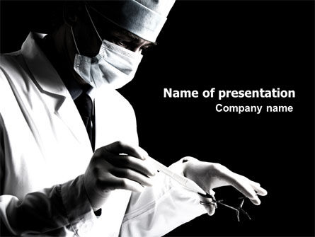 Medical: Surgery In Black And White PowerPoint Template #06899