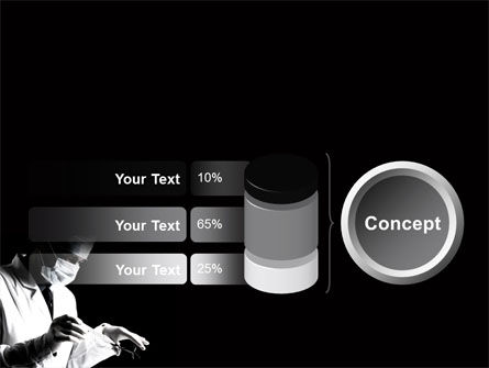 Surgery In Black And White PowerPoint Template Slide 11