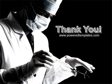Surgery In Black And White PowerPoint Template Slide 20