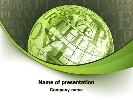 Global: Plantilla de PowerPoint - eco amigable #06900