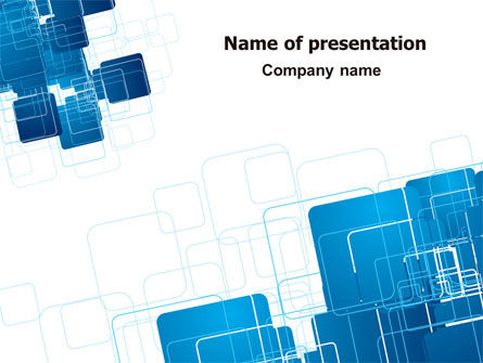 Blue and White Clean PowerPoint Template, 06901, Abstract/Textures — PoweredTemplate.com