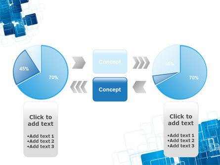 Blue and White Clean PowerPoint Template Slide 11