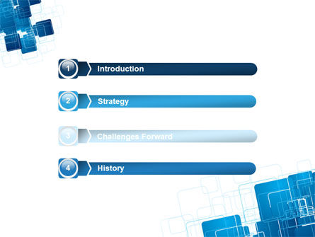 Blue and White Clean PowerPoint Template Slide 3
