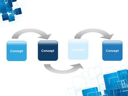 Blue and White Clean PowerPoint Template Slide 4