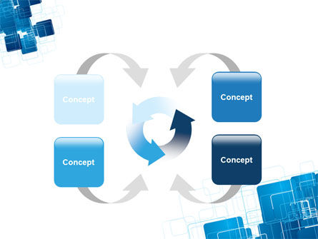 Blue and White Clean PowerPoint Template Slide 6
