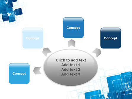 Blue and White Clean PowerPoint Template Slide 7