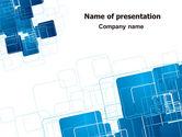 Abstract/Textures: Modèle PowerPoint de nettoyage bleu et blanc #06901