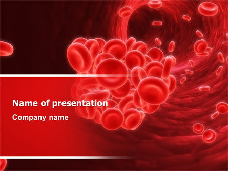 Blood capillary powerpoint templates and backgrounds for for Blood ppt templates free download