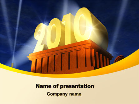 Holiday/Special Occasion: 2010 yr PowerPoint Template #06906