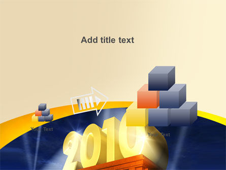 2010 yr PowerPoint Template Slide 13