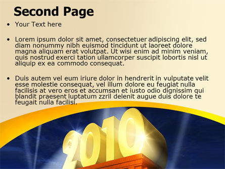 2010 yr PowerPoint Template, Slide 2, 06906, Holiday/Special Occasion — PoweredTemplate.com